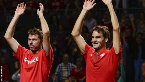 Stanislas Wawrinka and Roger Federer