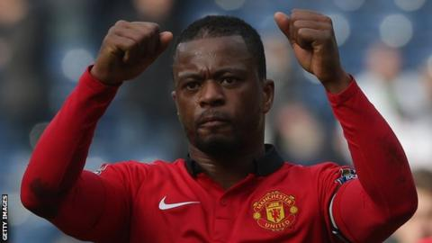 Manchester United left-back Patrice Evra