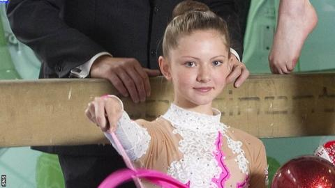 Rhythmic gymnast Lauren Brash