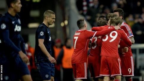 aa840199493 Manchester United s hopes of redeeming a poor season with a surprise  Champions League semi-final place were ended as holders Bayern Munich  fought back to ...