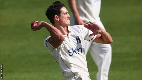 Warwickshire and England Lions fast bowler Chris Wright