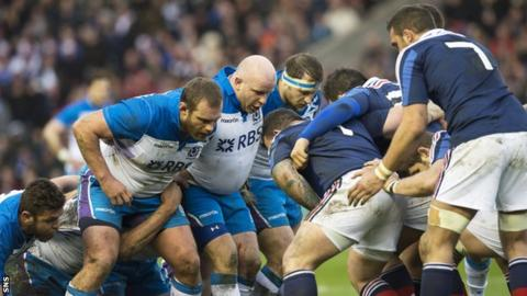 Scotland playing France in the 2014 Six Nations