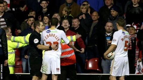 Paul Connolly and Brentford fans