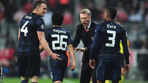 David Moyes cautions his United players after they took a lead against Bayern that they soon lost