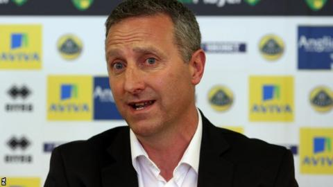 Norwich City manager Neil Adams