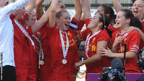 Liverpool Ladies win last season's WSL title