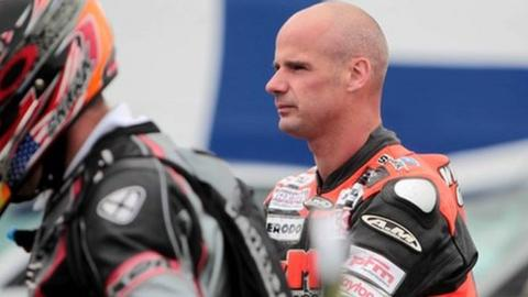 Ryan Farquhar (right) will be racing at the North West 200 this year
