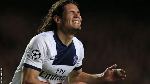 Paris St-Germain's Edinson Cavani