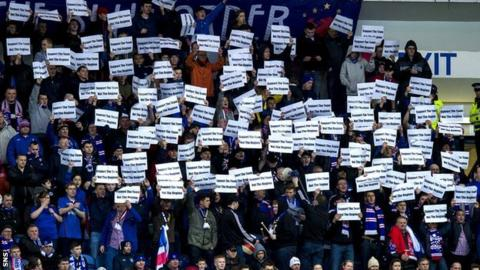 Rangers fans have had protests inside the stadium against the board