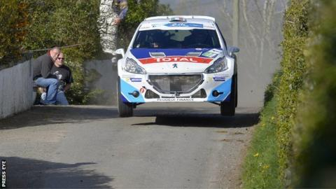 Craig Breen is second after day one of the Circuit of Ireland