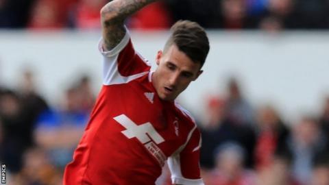 Nottingham Forest forward Matt Derbyshire