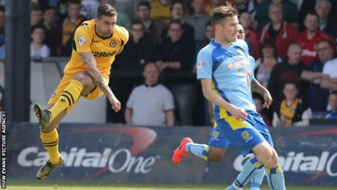 Andy Sandell fires Newport County in front against Burton Albion