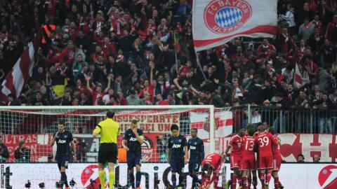 Bayern Munich fans celebrate