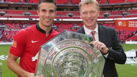 David Moyes and Robin Van Persie