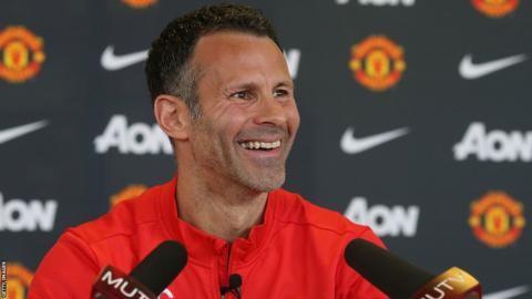 Welsh football legend Ryan Giggs takes his first press conference as interim Manchester United boss