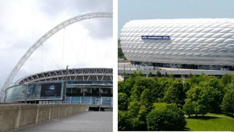 Wembley and Allianz Arena