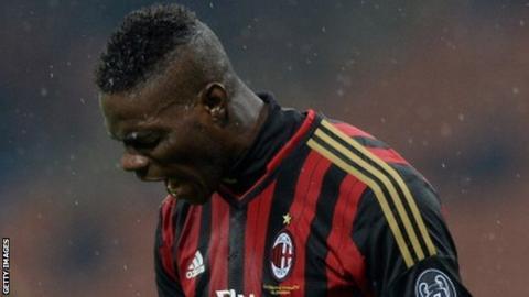 AC Milan forward Mario Balotelli