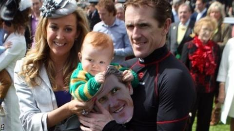 AP McCoy with wife Chanelle and son Archie