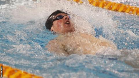 Jordan Sloan secured the Commonwealth Games nomination time for the 50m backstroke