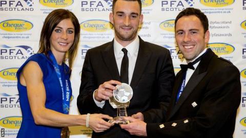 Wallace receives his award