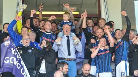 Rochdale celebrate promotion