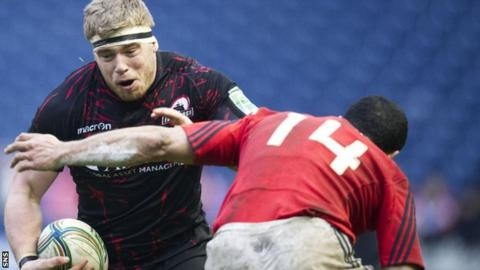 Alex Allen in action for Edinburgh