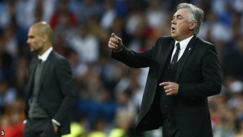 Pep Guardiola (left) and Carlo Ancelotti