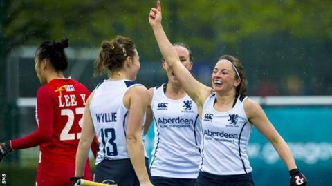 Scotland players celebrating