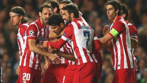 Atletico players celebrate