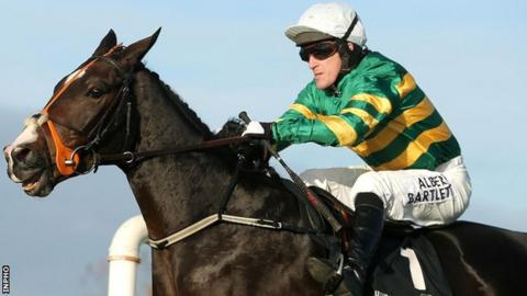 Tony McCoy was back on board Jezki after missing the horse's Champion Hurdle win at Cheltenham