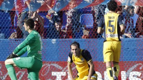 Atletico Madrid lose at Levante