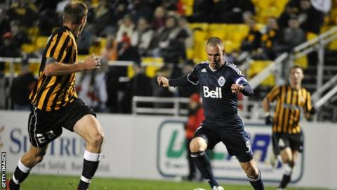 Kenny Miller in action for Vancouver Whitecaps