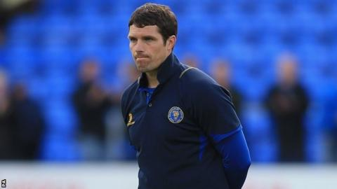 Shrewsbury Town manager Mike Jackson