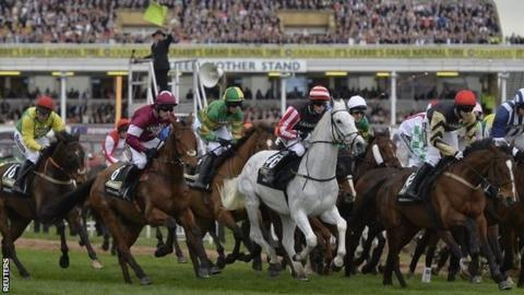 False start at the 2014 Grand National