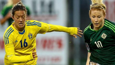 Northern Ireland lost 3-0 away to Sweden