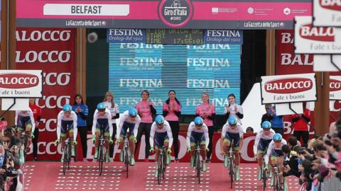 The action begins in the 2014 Giro d'Italia with the team time trial which started at the Titanic Quarter in Belfast