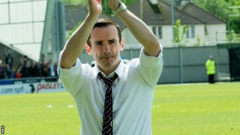 Danny Lennon after draw with Hearts