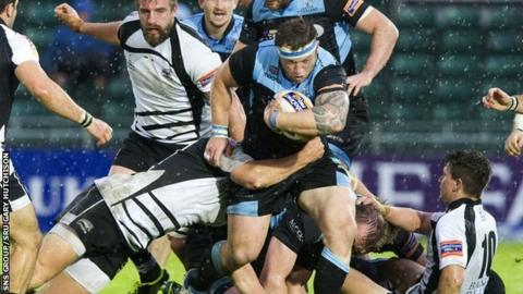 Ryan Grant in action against Zebre