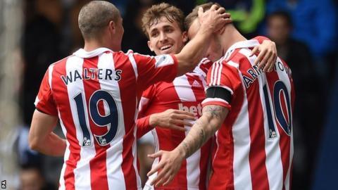 Stoke City celebrate