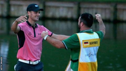 Martin Kaymer celebrates his victory at Sawgrass