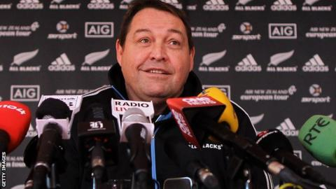 New Zealand coach Steve Hansen.
