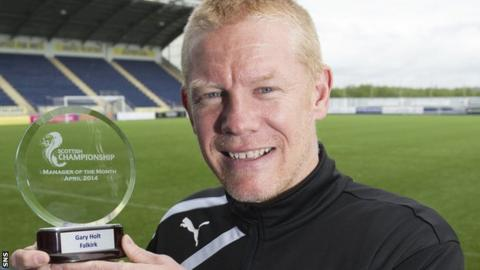 Gary Holt with his award