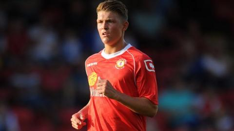 Crewe's England Under-21 international Max Clayton