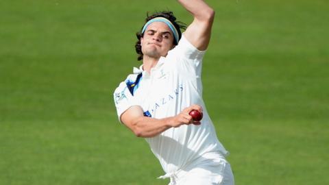 Yorkshire fast bowler Jack Brooks