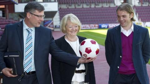 Craig Levein, Ann Budge and Robbie Neilson