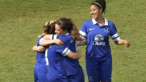 Arsenal and Everton book their places in the FA Women's Cup Final