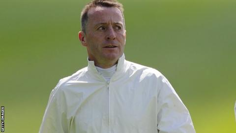 Kieren Fallon walking the course at York