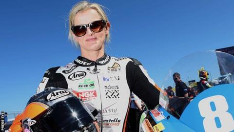 Maria Costello is the only female rider at the 2014 North West 200