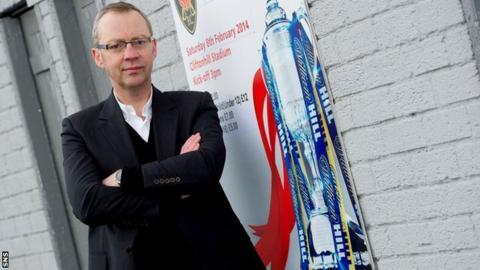 Albion Rovers chairman John Devlin