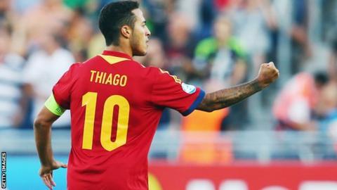 separation shoes ecb17 1908c Thiago Alcantara: Spain midfielder to miss World Cup - BBC Sport